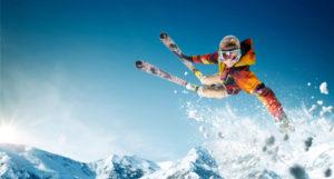 Man skiing in Denver