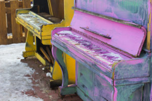 Painted piano's in Fort Collins, CO